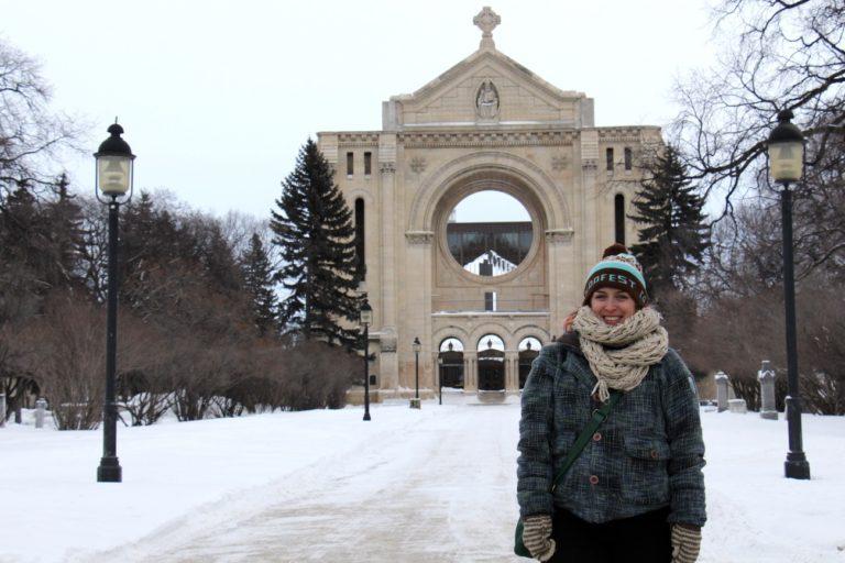 Moi à la cathédrale de St-Boniface