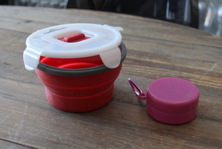 bol et verre compacts pour le voyage