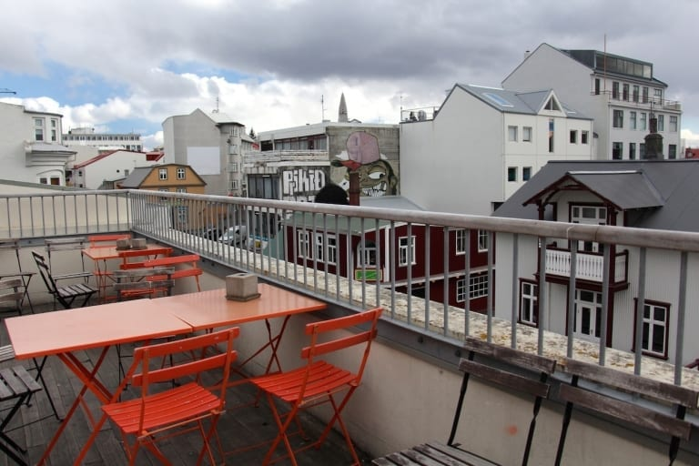 balcon auberge HI Reykjavik