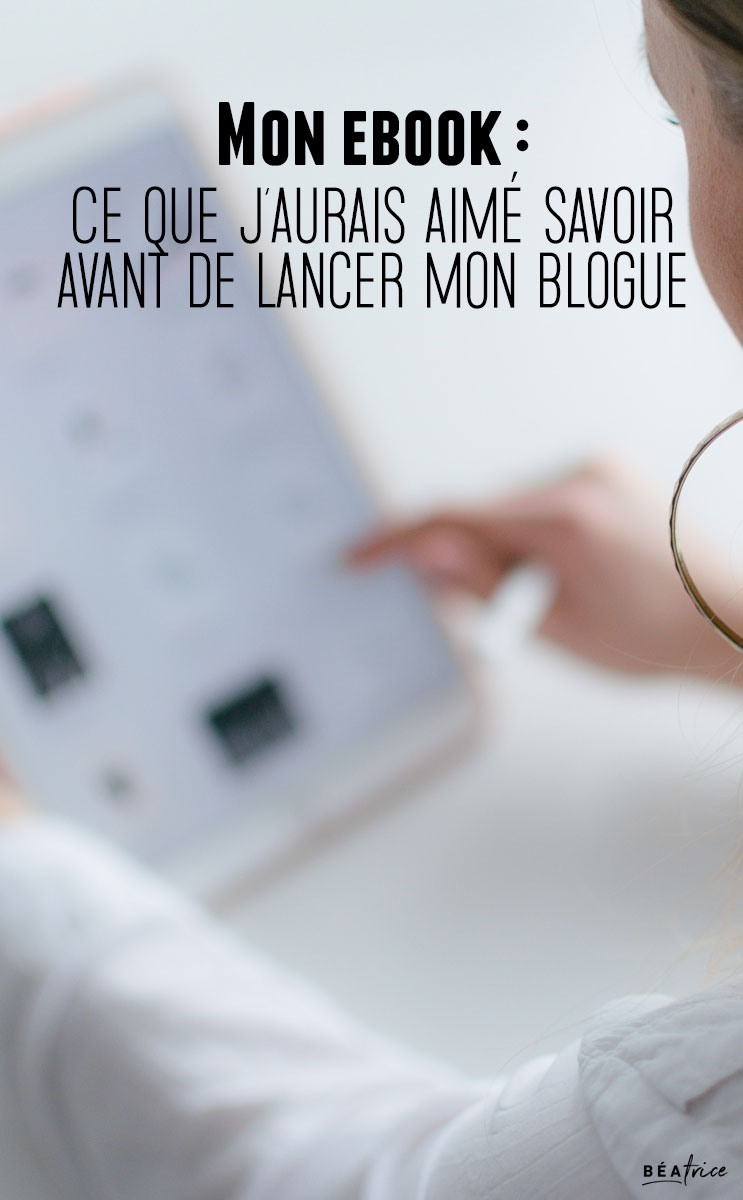 Image pour Pinterest : ebook blogging
