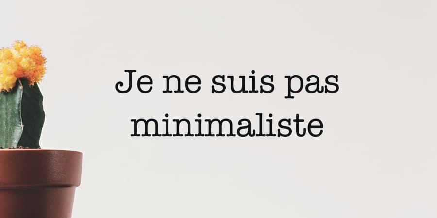 Je ne suis pas minimaliste