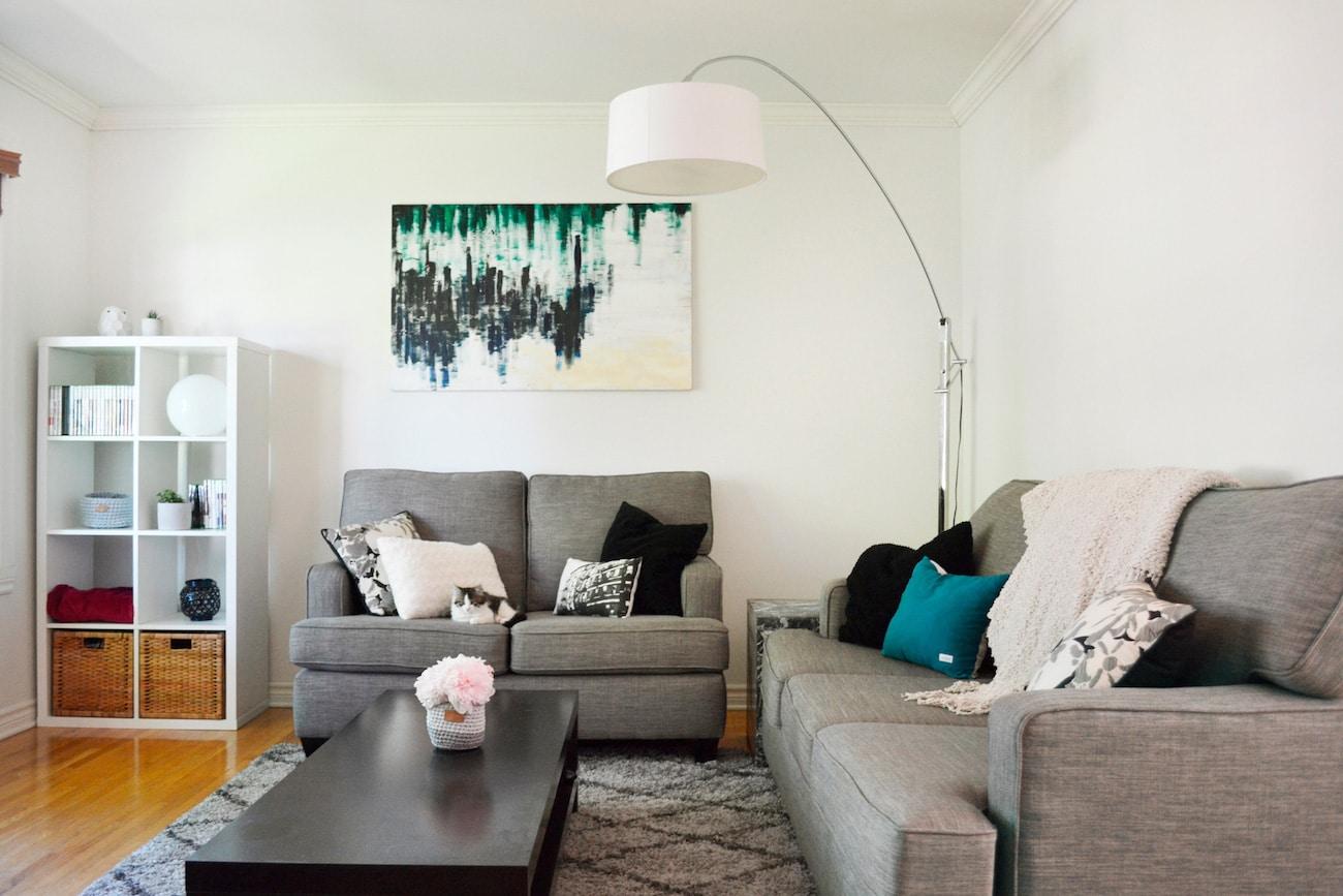 Salon décoré en collaboration avec Kijiji