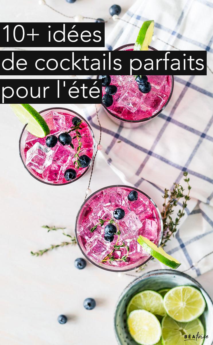 Image pour Pinterest : cocktail d'été