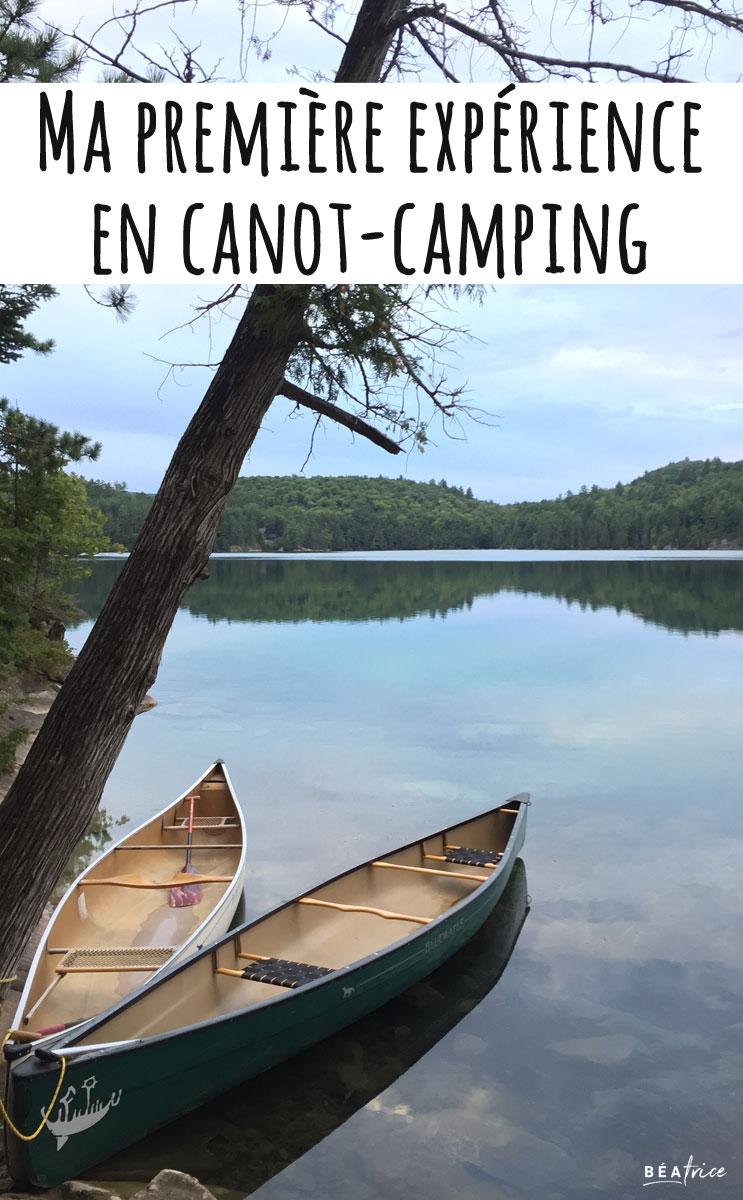 Image pour Pinterest : quoi apporter en canot camping