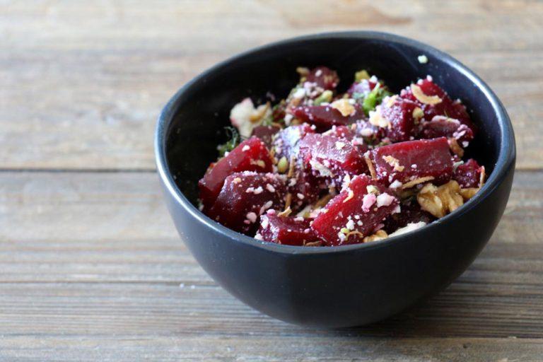 Salade de betteraves faite avec la Boite du Chef