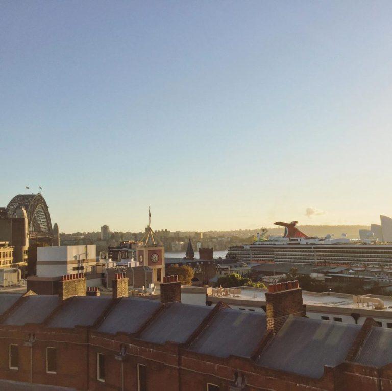 Vue du toit du Sydney Harbour YHA