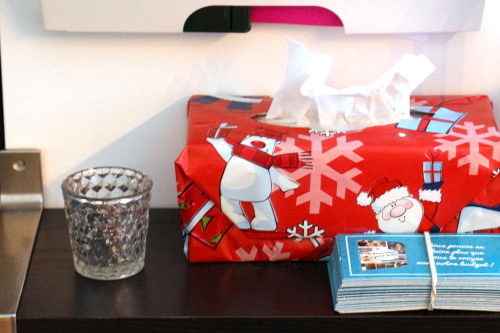 Boite de mouchoirs aux couleurs de Noël