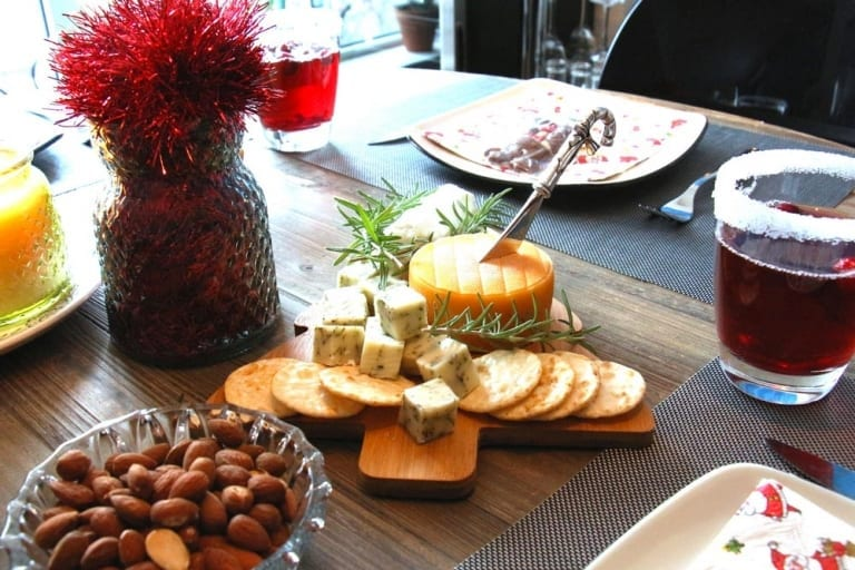 Réception des fêtes - table festive