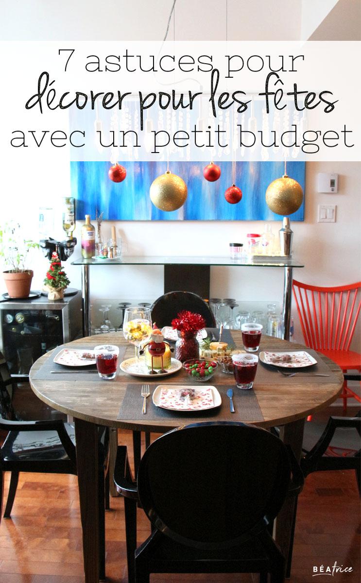 Image pour Pinterest : décoration de Noël pas cher