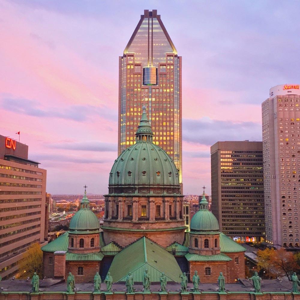 Vue de l'Édifice Sunlife à Montréal