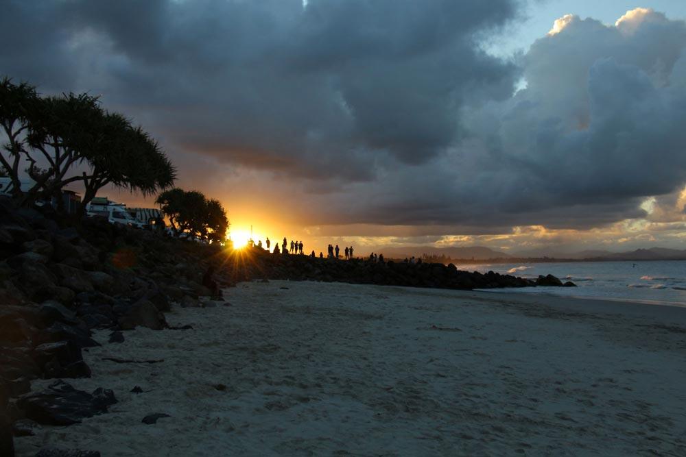 Coucher de soleil à Byron Bay