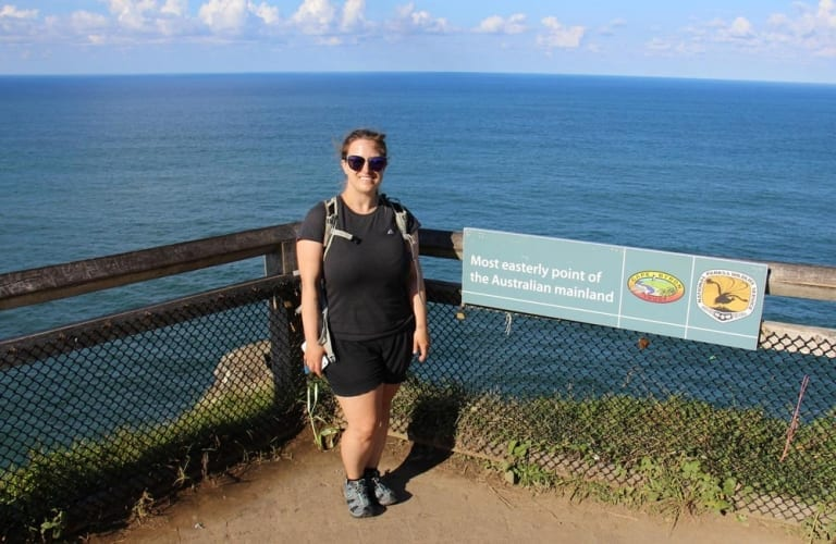 Moi au Most Easterly Point of the Australian mainland