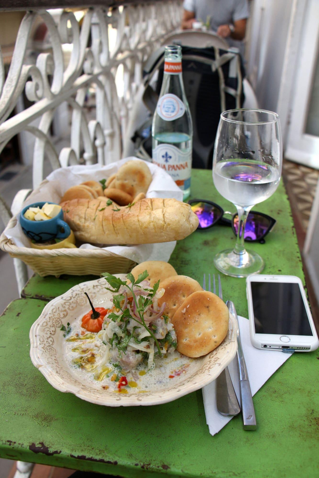 Repas au El Del Frente dans Habana Vieja