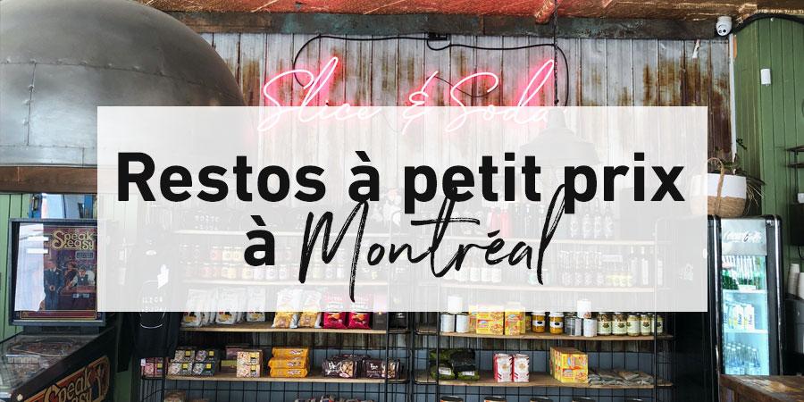 Restos à petit prix à Montréal