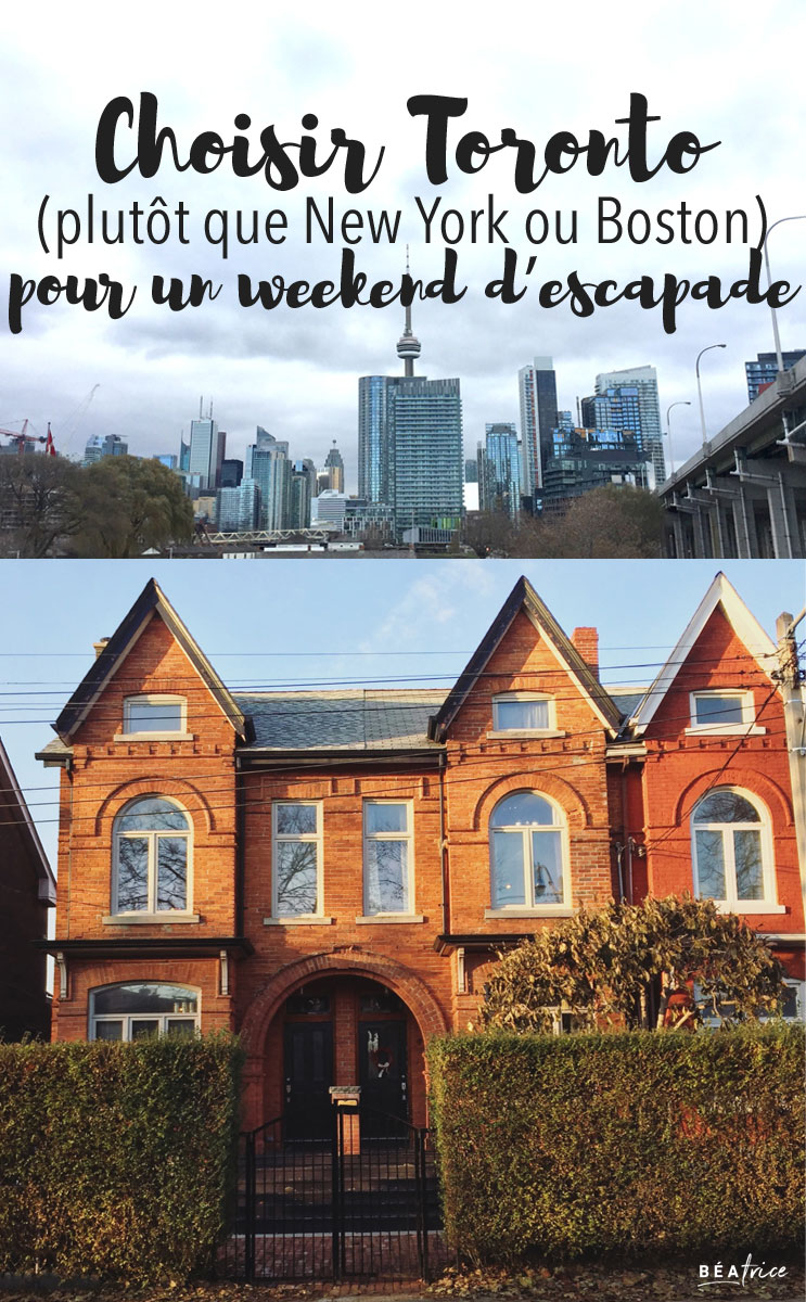 Image pour Pinterest : Weekend à Toronto