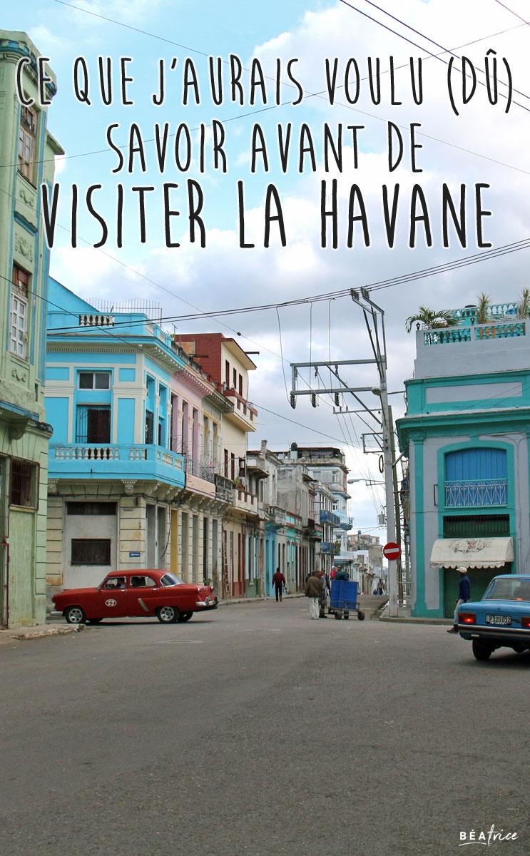 Image Pinterest : À savoir avant de visiter La Havane