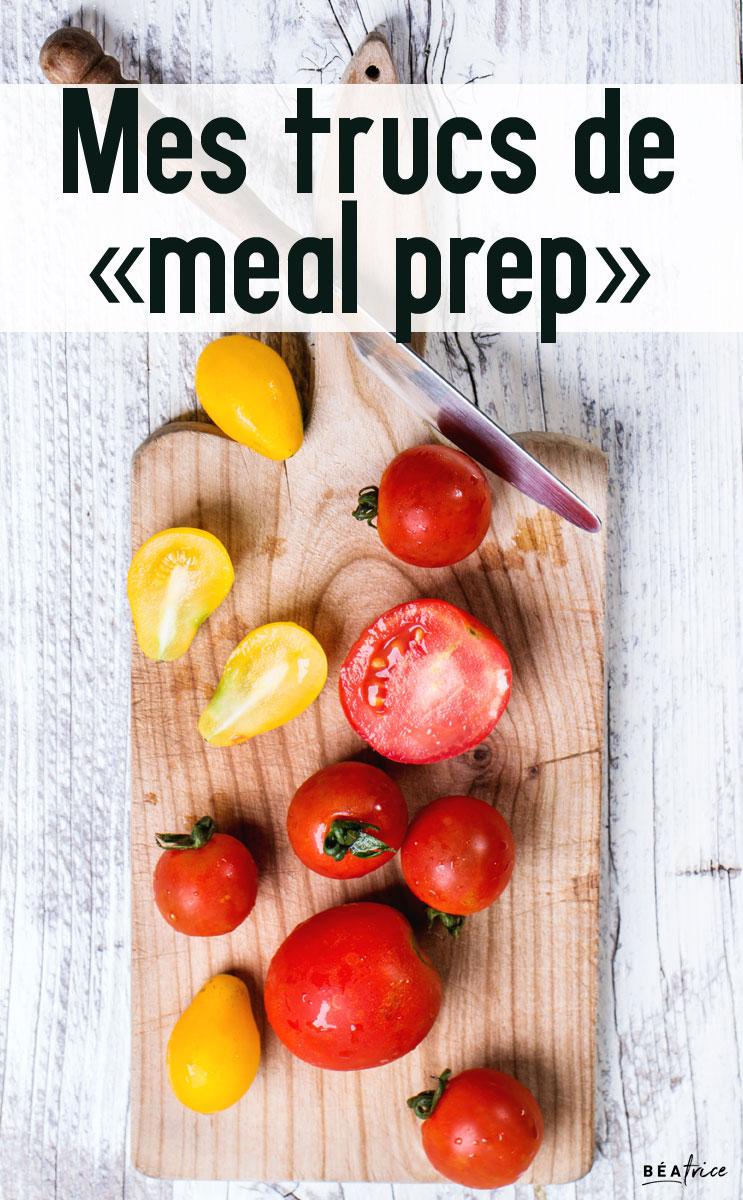 Image pour Pinterest : trucs de meal prep
