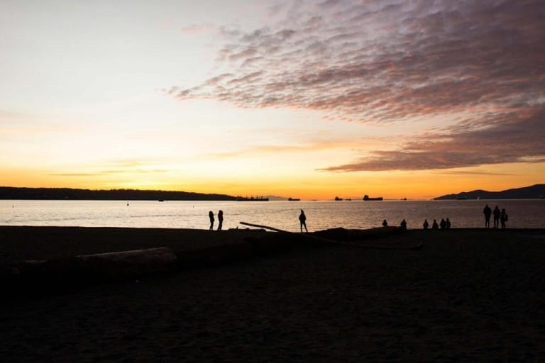 Coucher de soleil à English Bay
