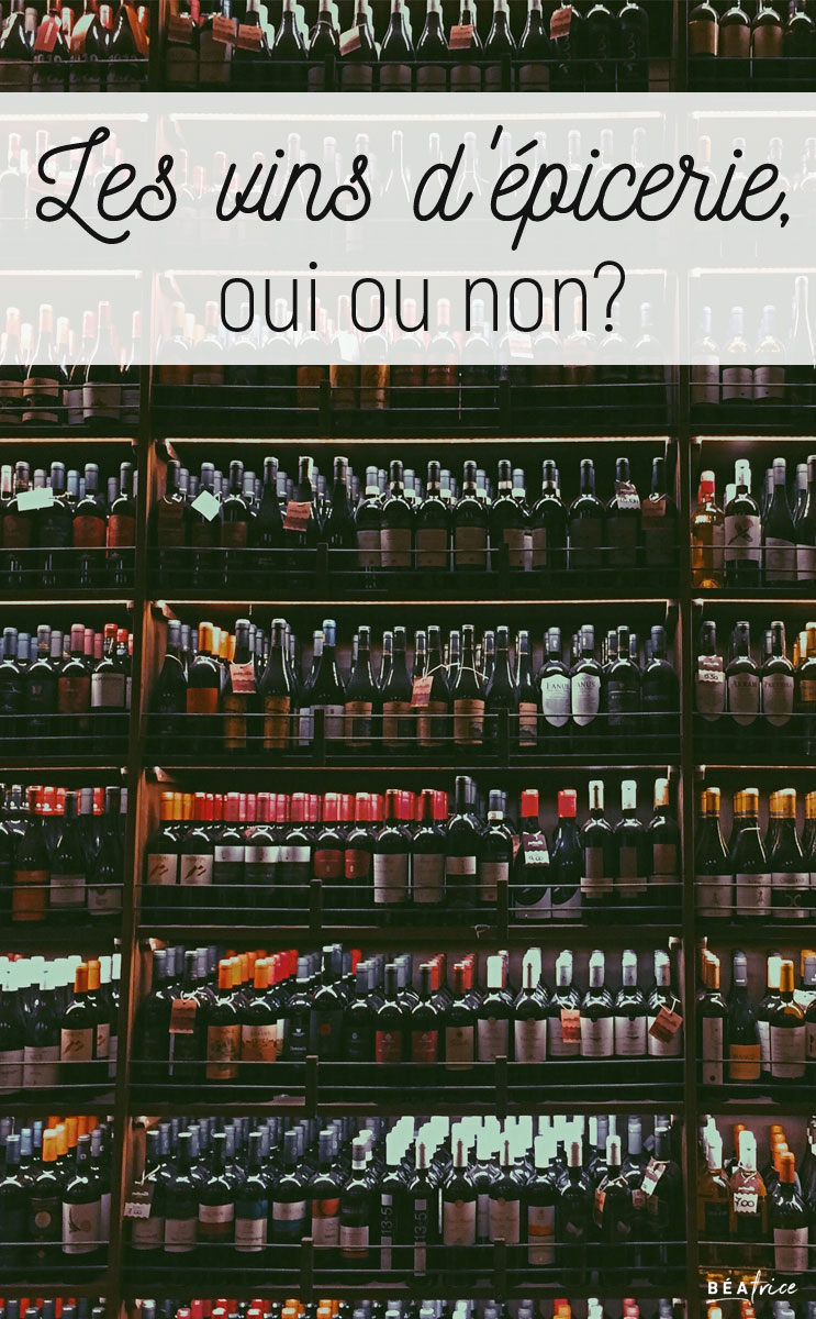Image pour pinterest : vin d'épicerie