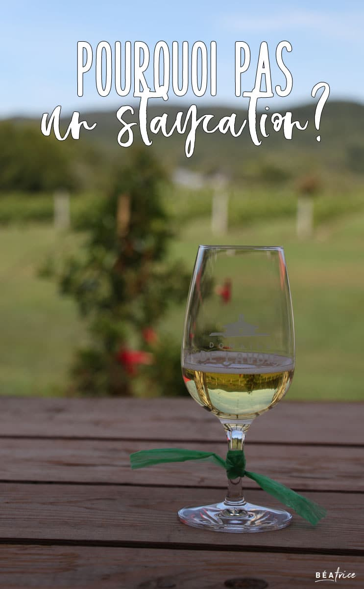Image pour Pinterest : Staycation