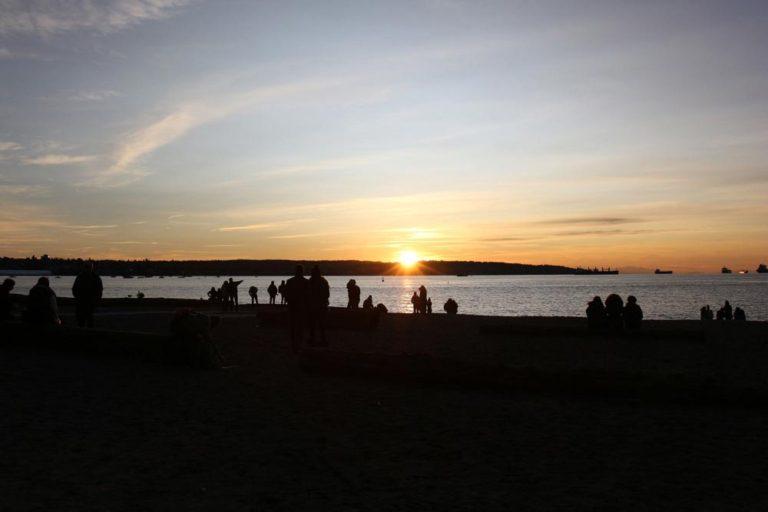 Coucher de soleil English Bay, Vancouver