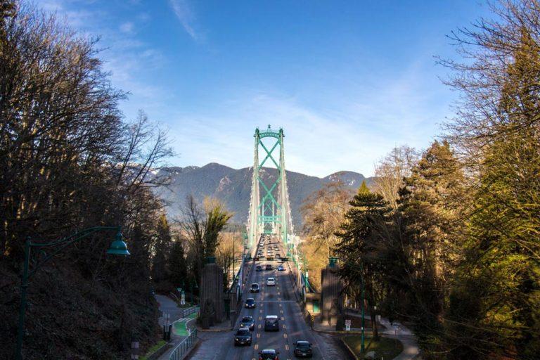 Le célèbre Lions Gate Bridge, Vancouver