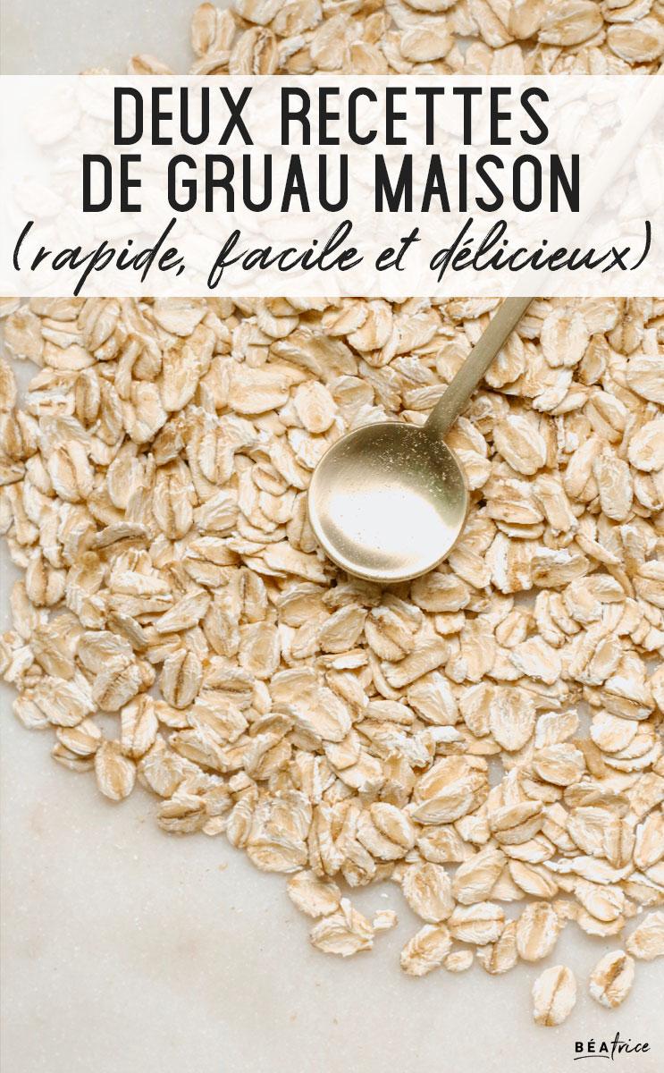 Image pour Pinterest : recette de gruau