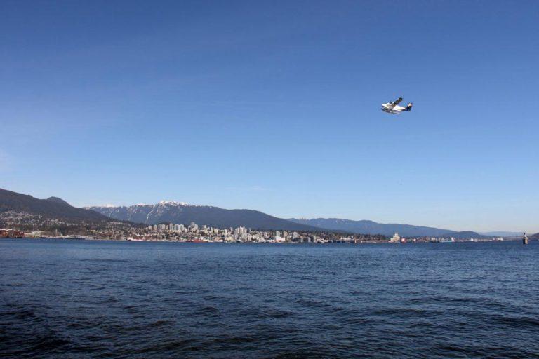 Vue sur les hydravions à Stanley Park, Vancouver