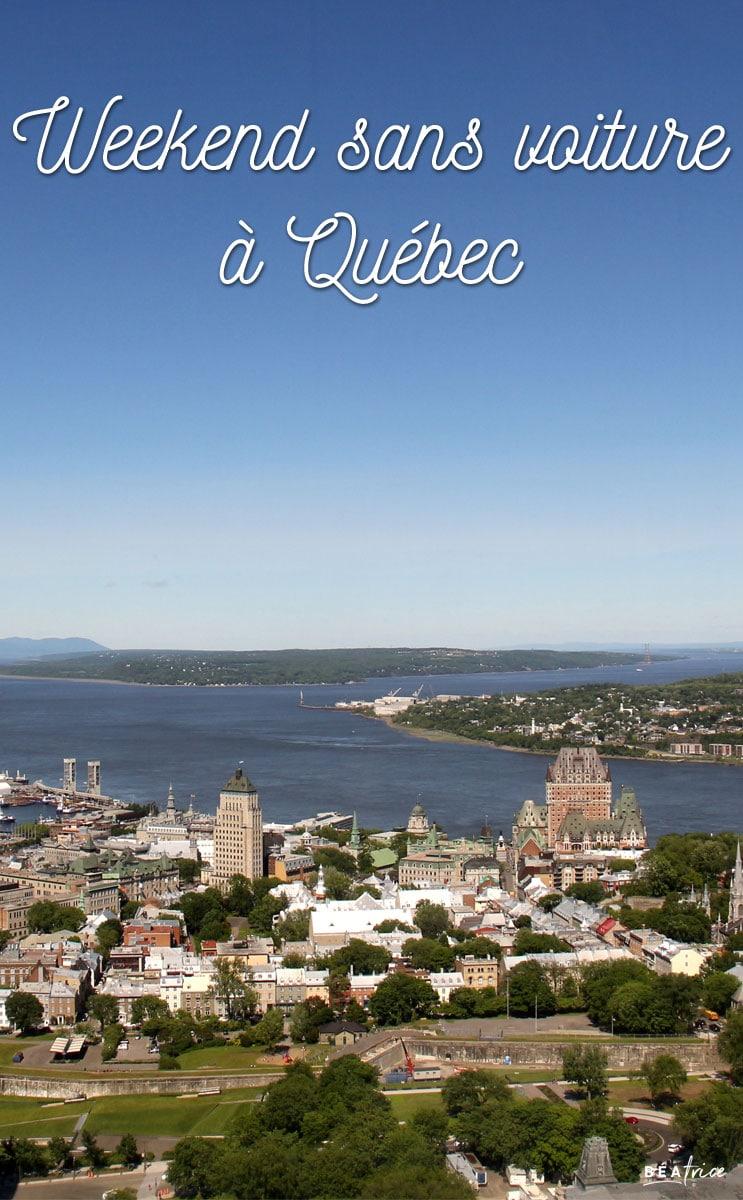 Image pour Pinterest : Weekend sans voiture à Québec