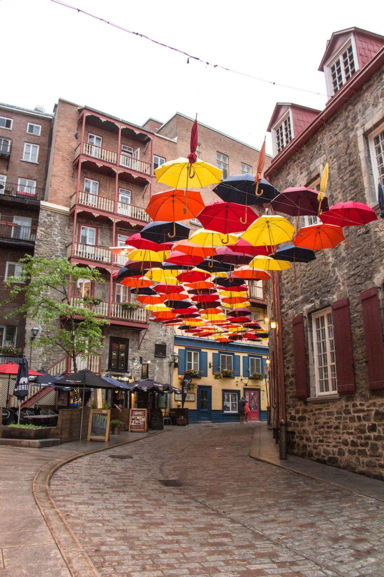 Installation dans le Petit-Champlain