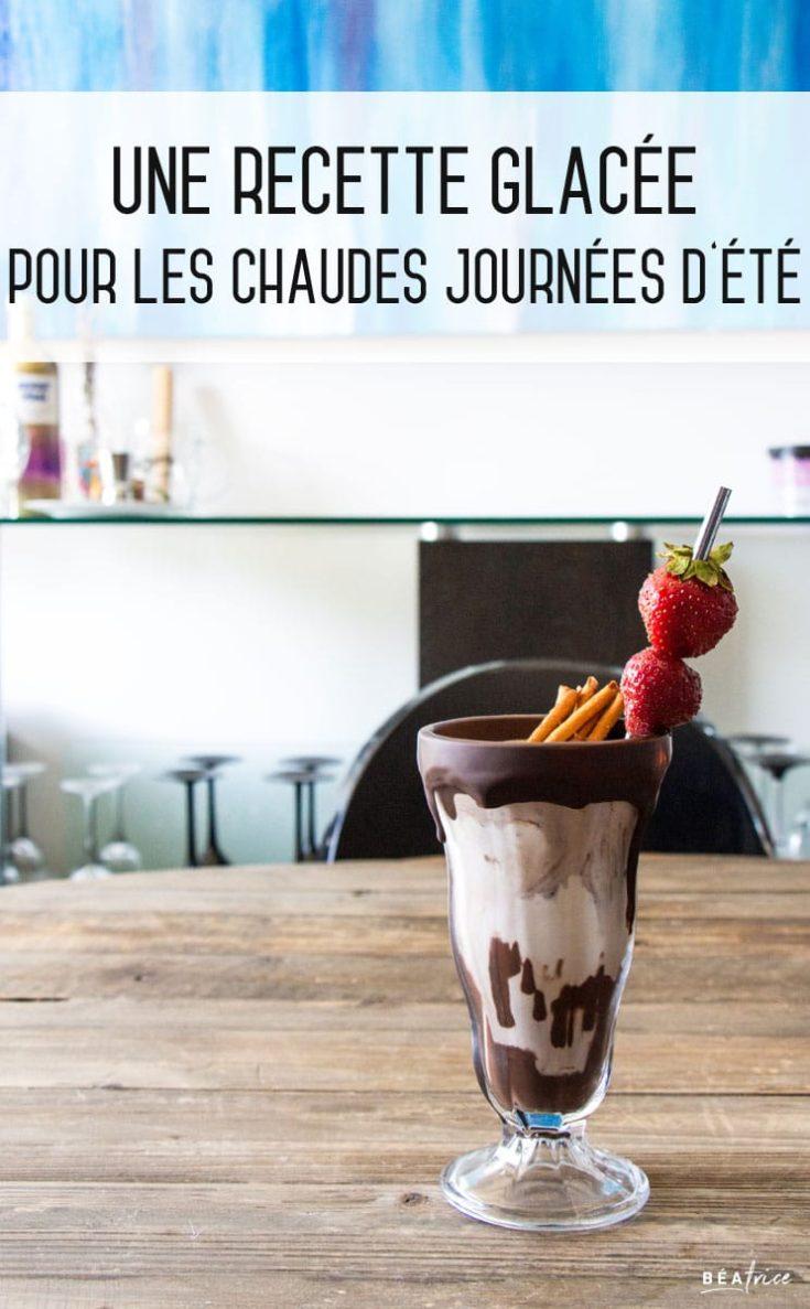 Recette de milkshake chocolat & banane