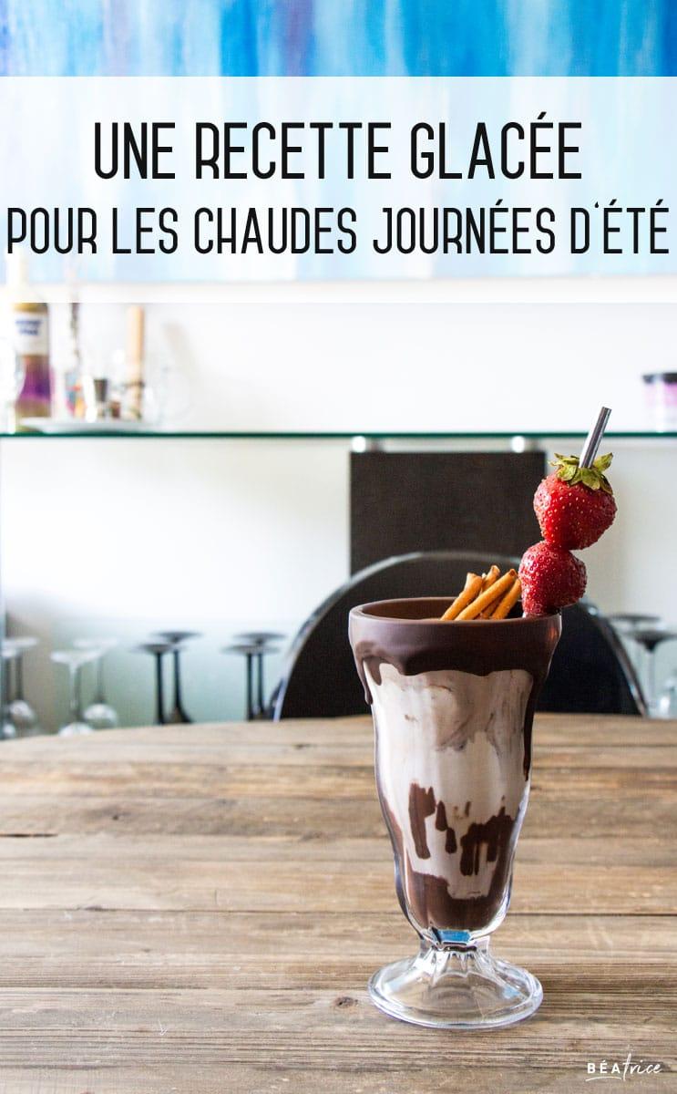 Image pour Pinterest : recette milkshake