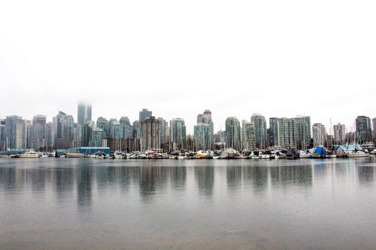 Vancouver sous la pluie