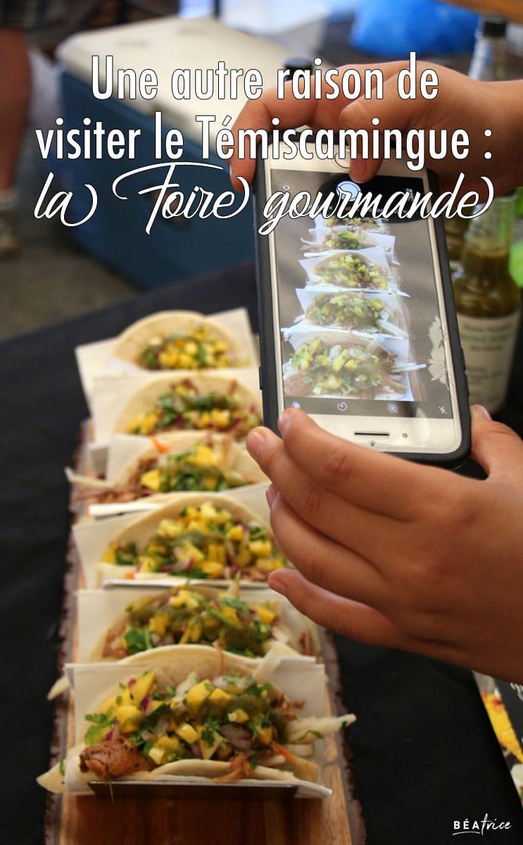 Image pour Pinterest : Foire gourmande Abitibi-Témiscamingue