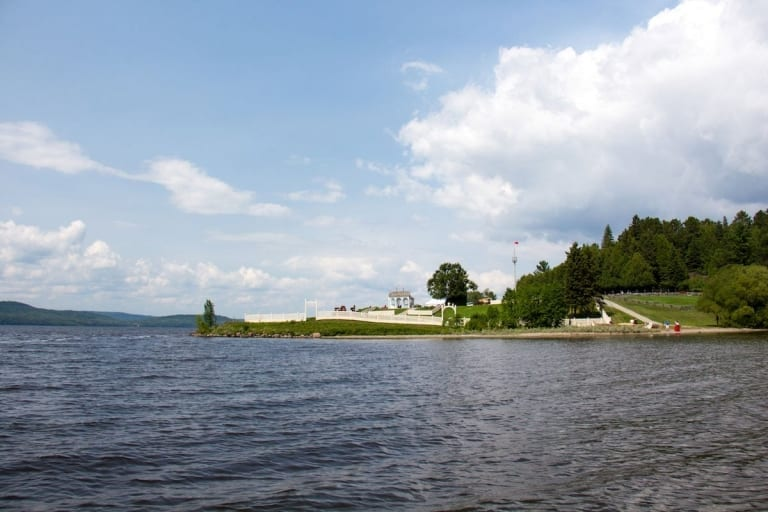 Fort Témiscamingue vu du lac