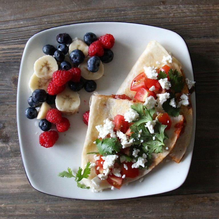 photo de près, recette déjeuner rapide