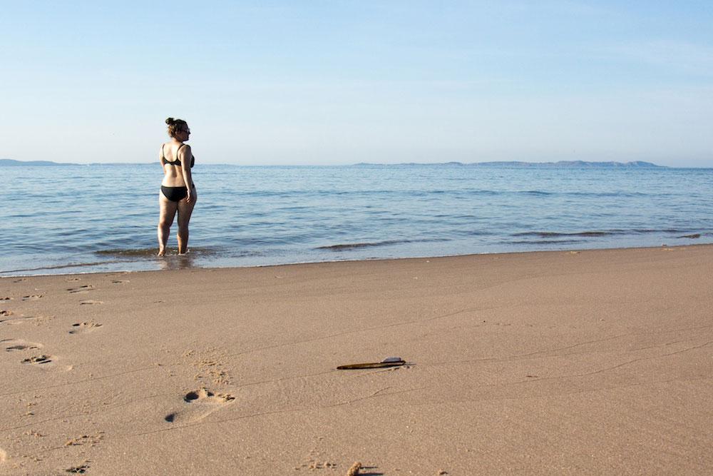 Moi qui me baigne à Sandy Hook