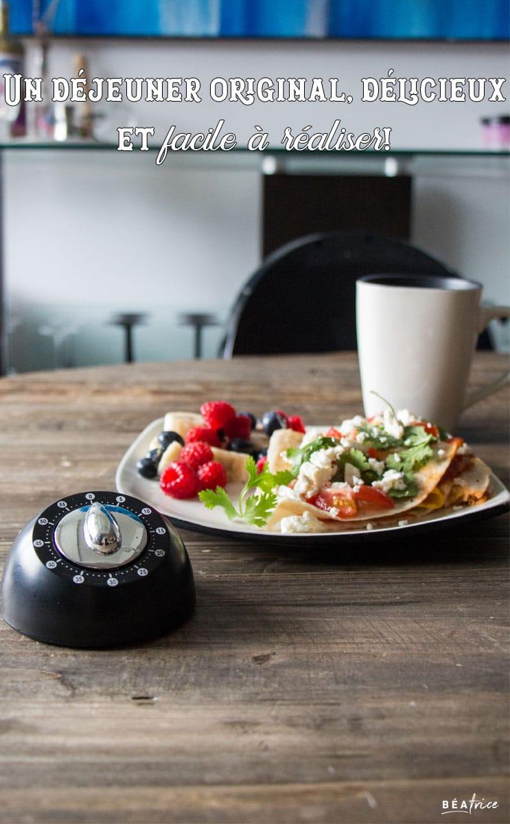 Image pour Pinterest : recette déjeuner rapide