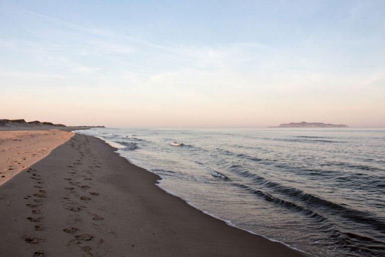 Plage de Sandy Hook au coucher du soleil