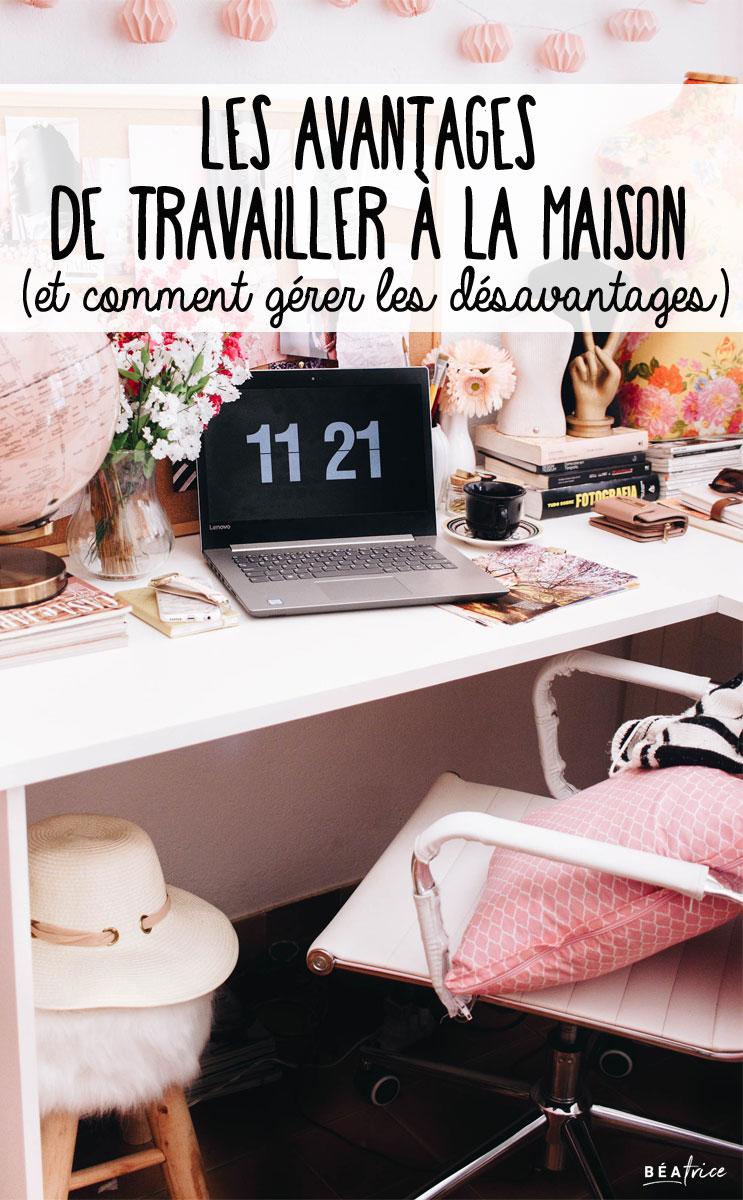 Image pour Pinterest : travail à la maison