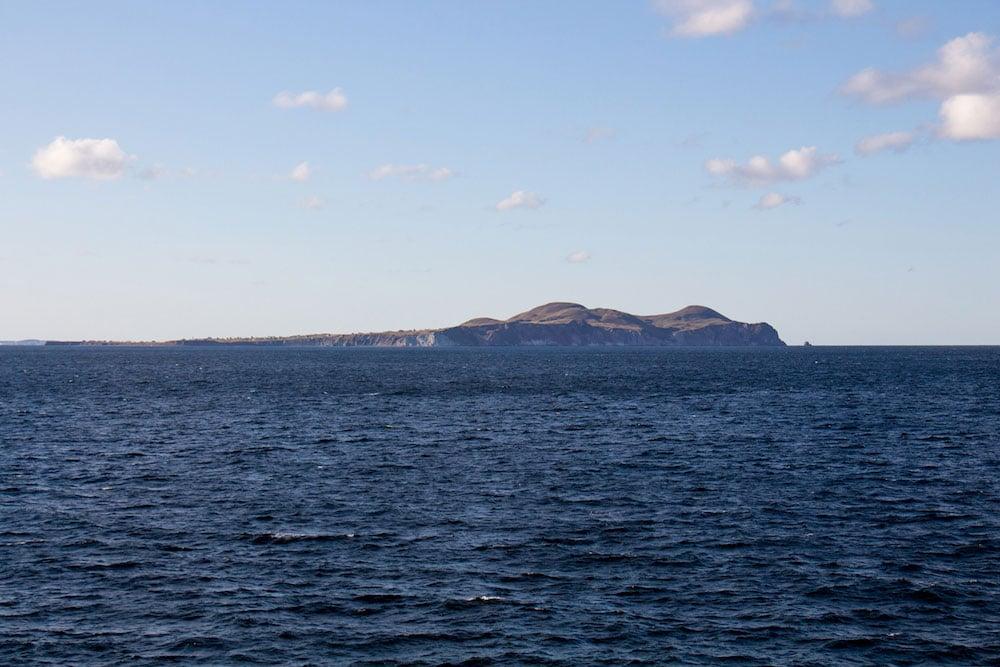 Arrivée aux îles de la Madeleine en traversier