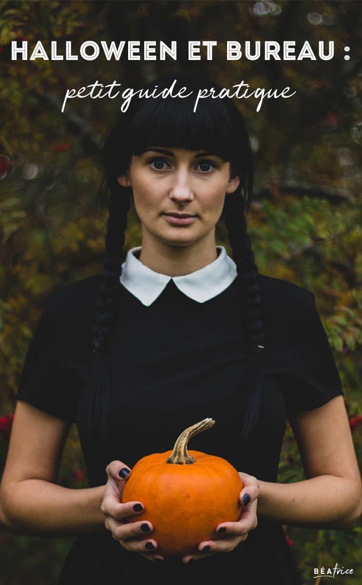 Image pour Pinterest : déguisement halloween bureau