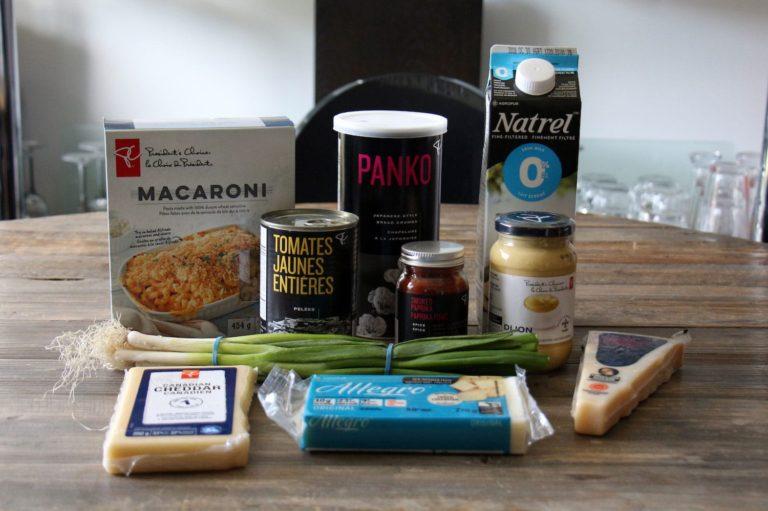 Ingrédients pour faire un macaroni au fromage