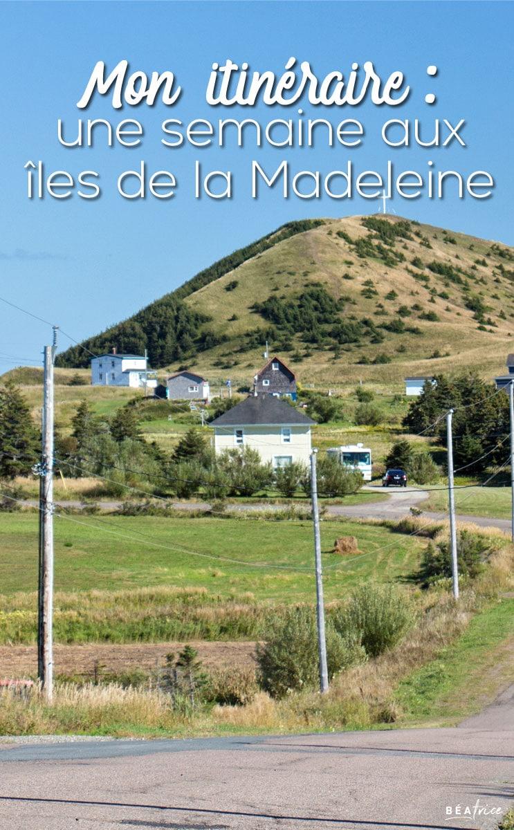 Image pour Pinterest : itinéraire îles de la Madeleine