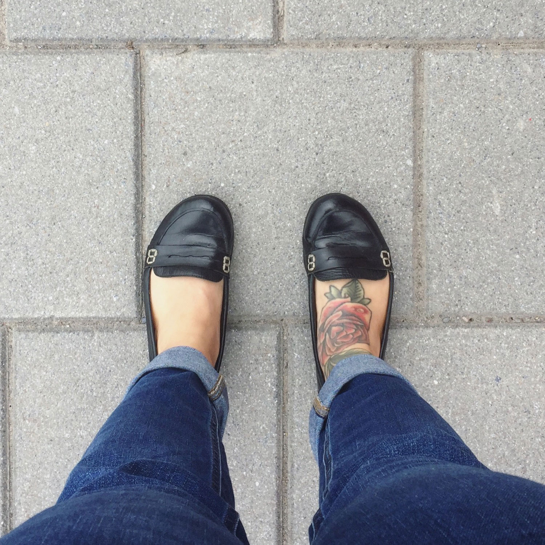 Moi avec des jeans du Reitmans