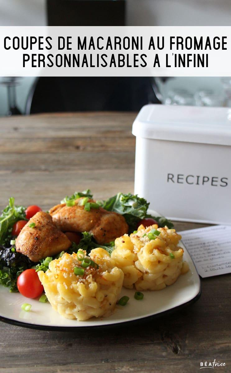 Image pour Pinterest : macaroni au fromage