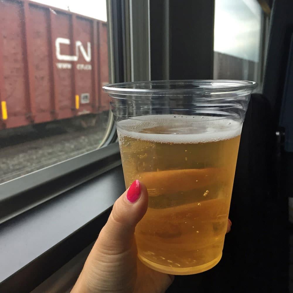 Bière dans le train Montréal-Senneterre