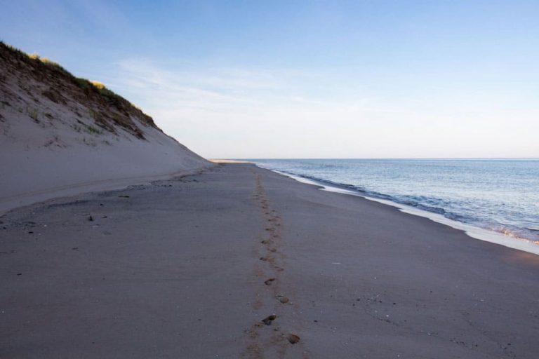 Sandy Hook au coucher de soleil