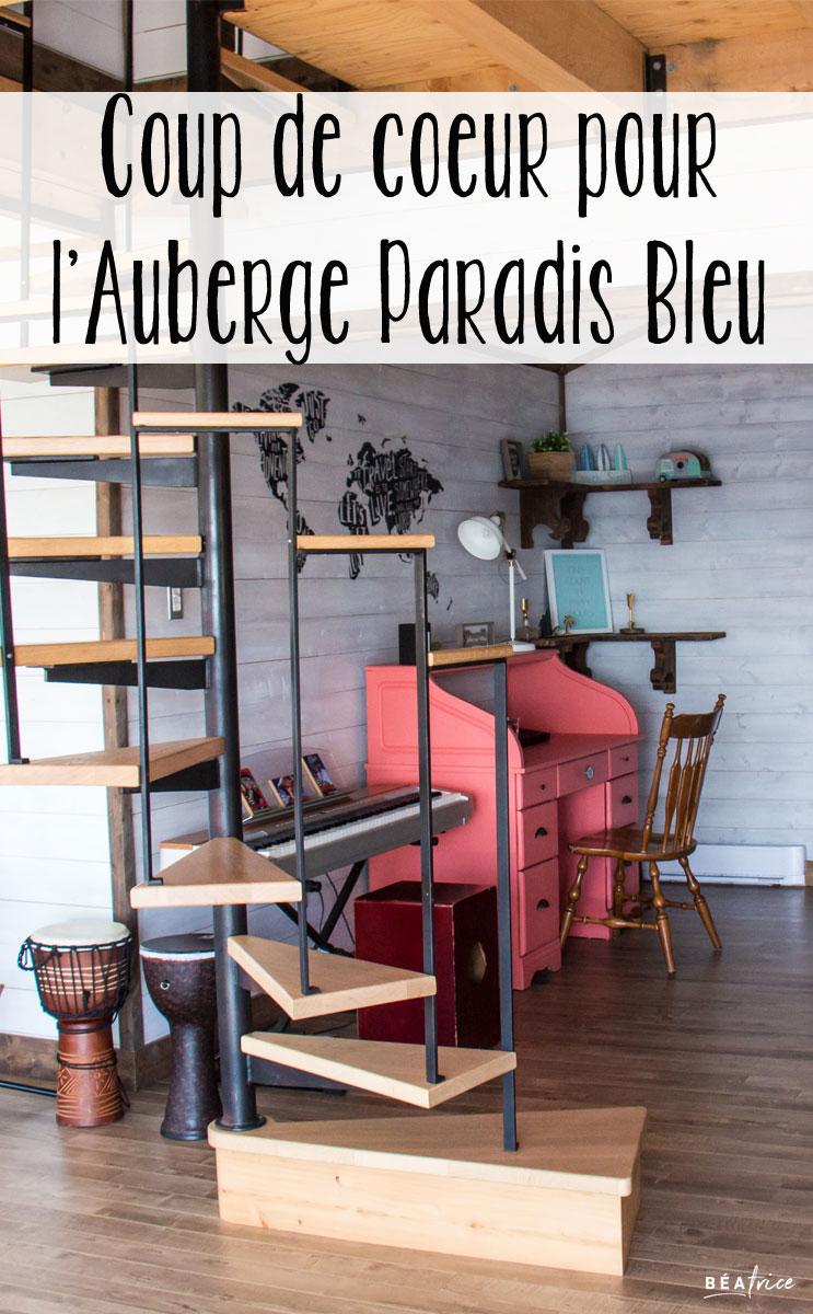 Image pour Pinterest : Auberge Paradis Bleu