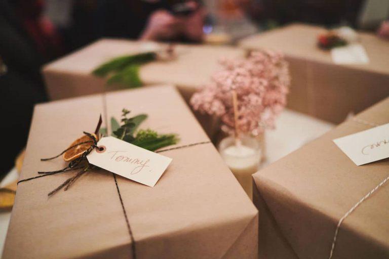Emballage écologique fait par boucle et papier